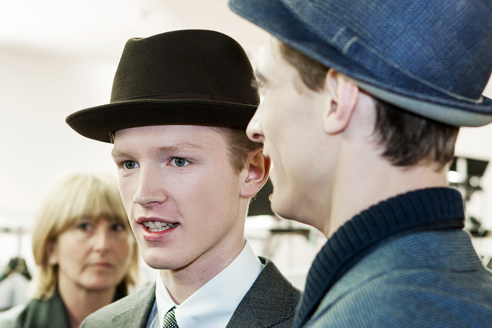 Milan Menswear 2010 backstage by Marco Coppola